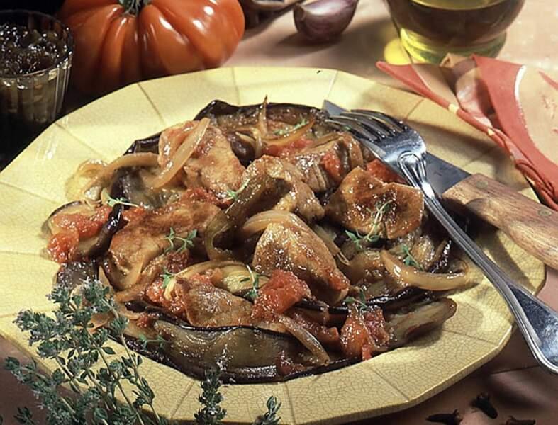 Sauté de veau aux aubergines