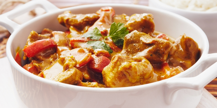 Curry de porc à l'indienne