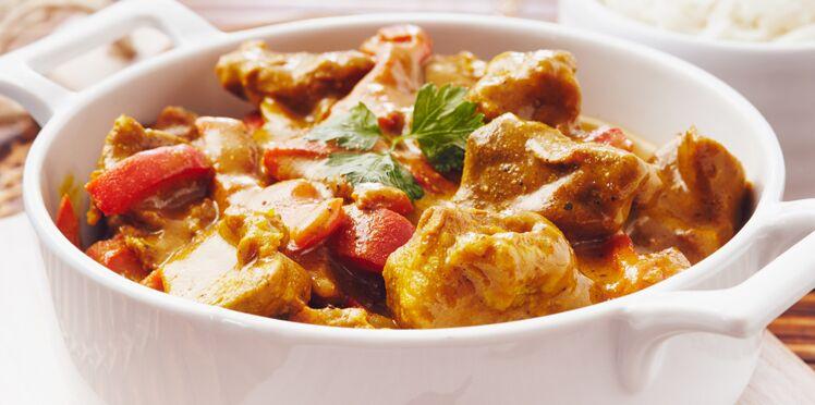 Curry de porc à l'indienne