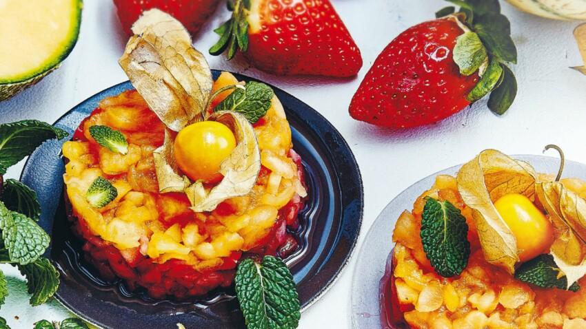 Tartares fraises et melon