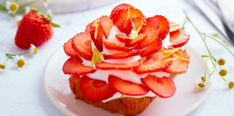 Tarte minute fraise chantilly