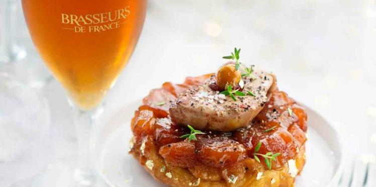 Tartelettes aux pommes Tatin et foie gras