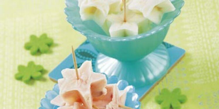 Glaçonnets au yaourt et au fruits