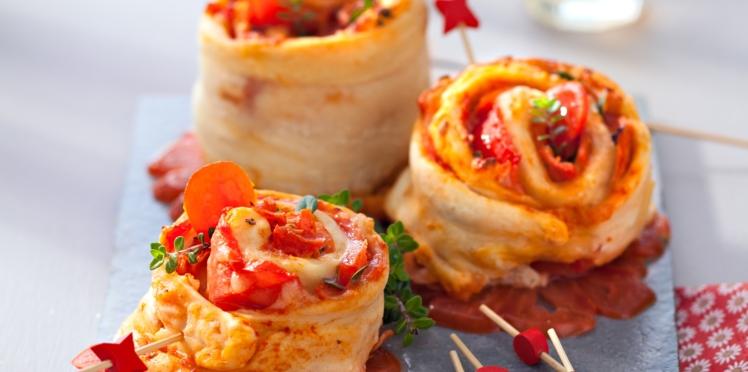 Pizza rolls au jambon