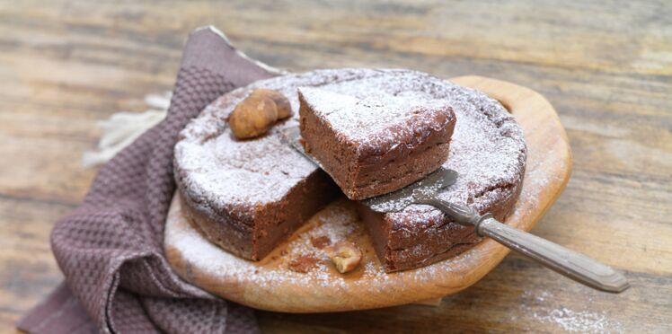 Gâteau fondant choco/châtaignes
