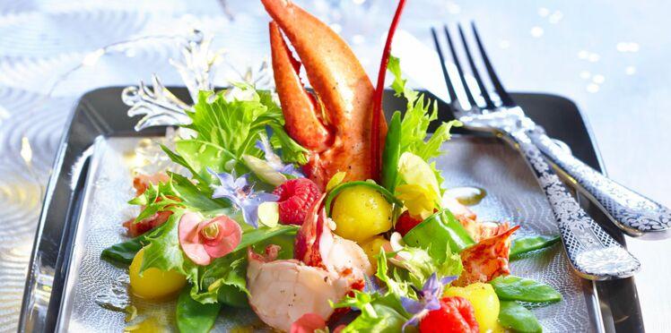 Salade tiède de homard aux fruits de la passion