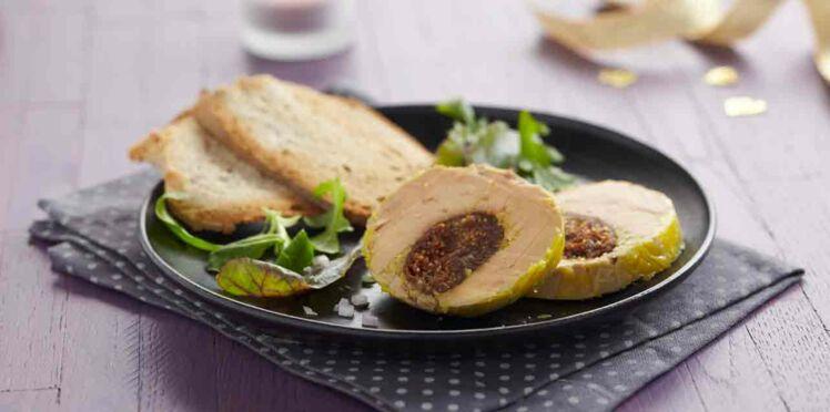 Recette Thermomix : Foie gras farci aux figues