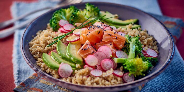 Bol santé au saumon