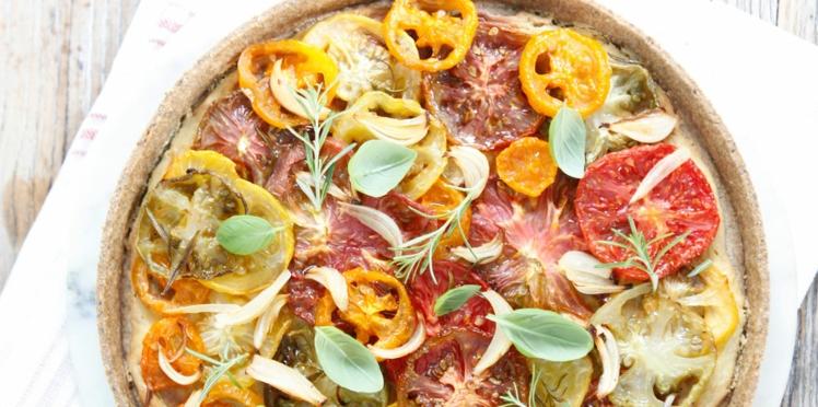 Tomato-tarte sans gluten