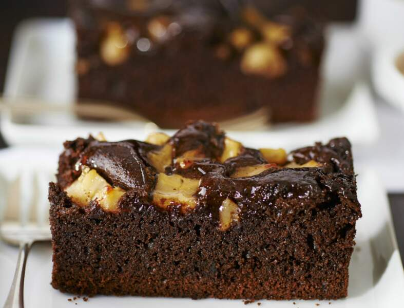 Cake poire-chocolat