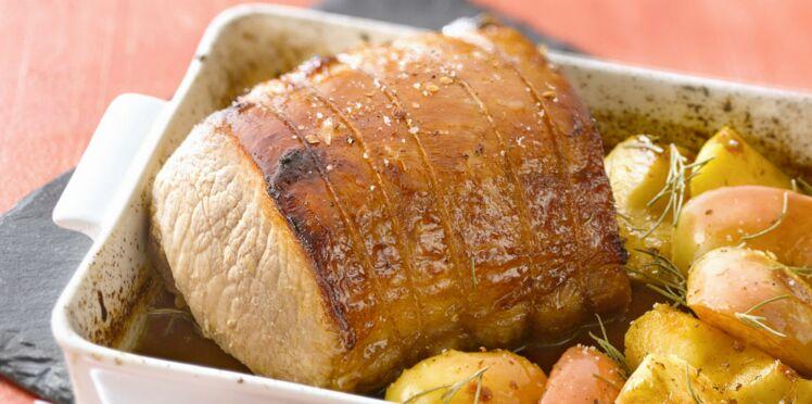 Rôti de porc au miel facile et rapide