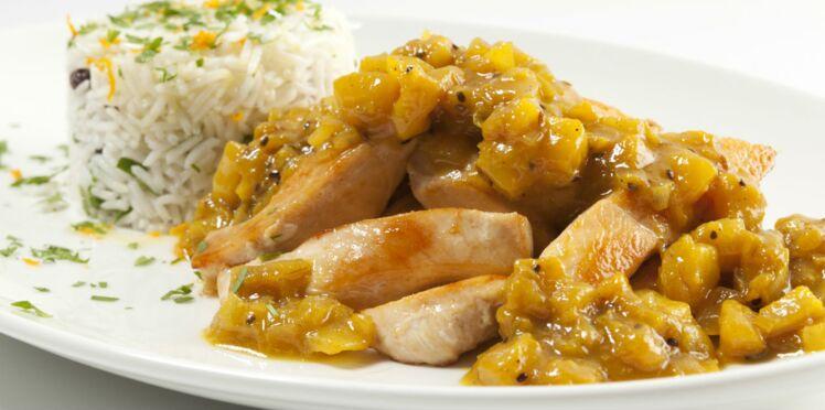 Aiguillettes de poulet rôti au chutney de kiwi