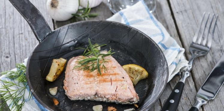 Filet de saumon poêle
