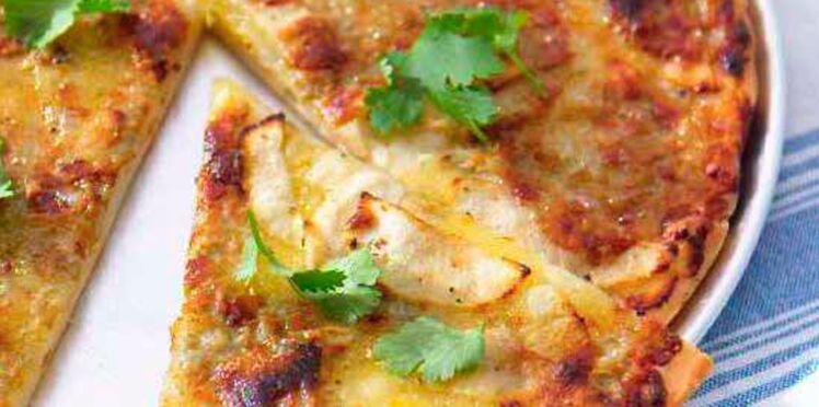 Pizza à la pomme et au gorgonzola