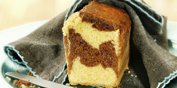 Cake marbré bicolore au chocolat