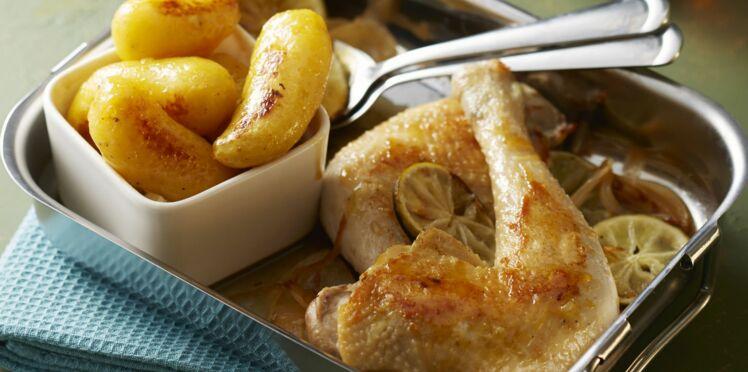 Rattes du Touquet au miel et au poulet