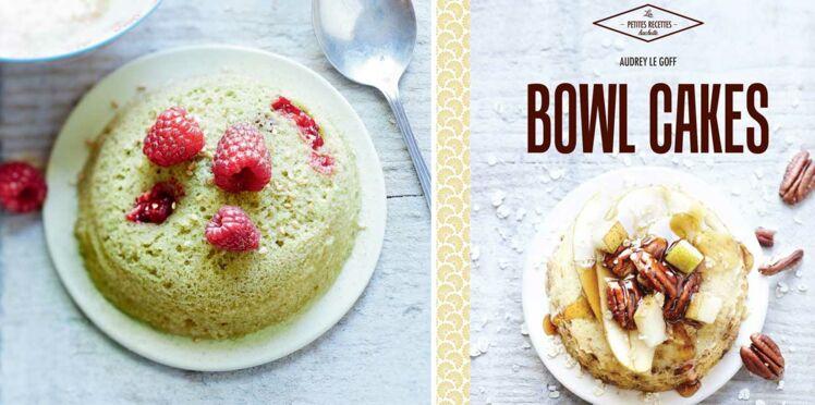 Mini-bowl cakes thé matcha et framboises