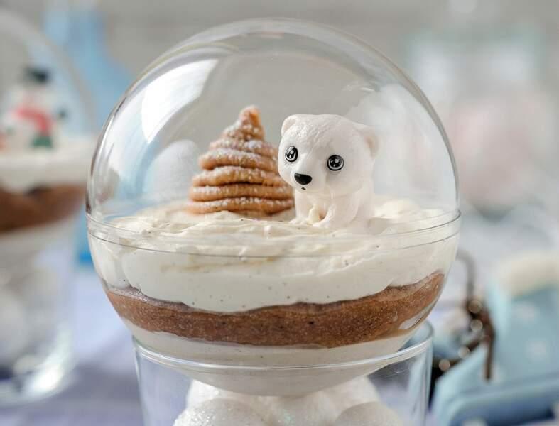 Balance : des boules de Noël mont-blanc