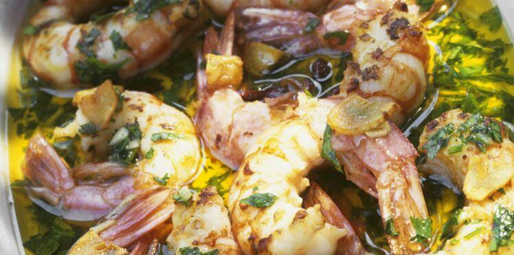marinade crevette ail