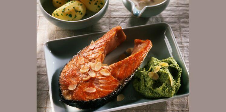 Saumon frais à la purée de brocolis