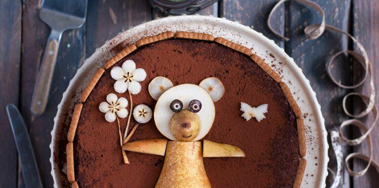 "Bavarois ""ourson"" poire-chocolat"