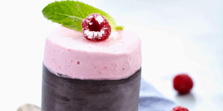 Soufflé glacé aux fruits rouges sans sucre