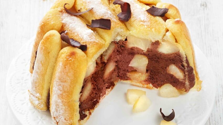 Charlotte chocolat-poires
