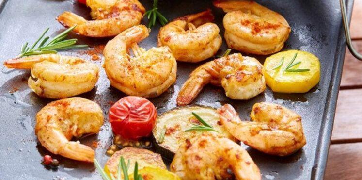 Crevettes pimentées à la plancha