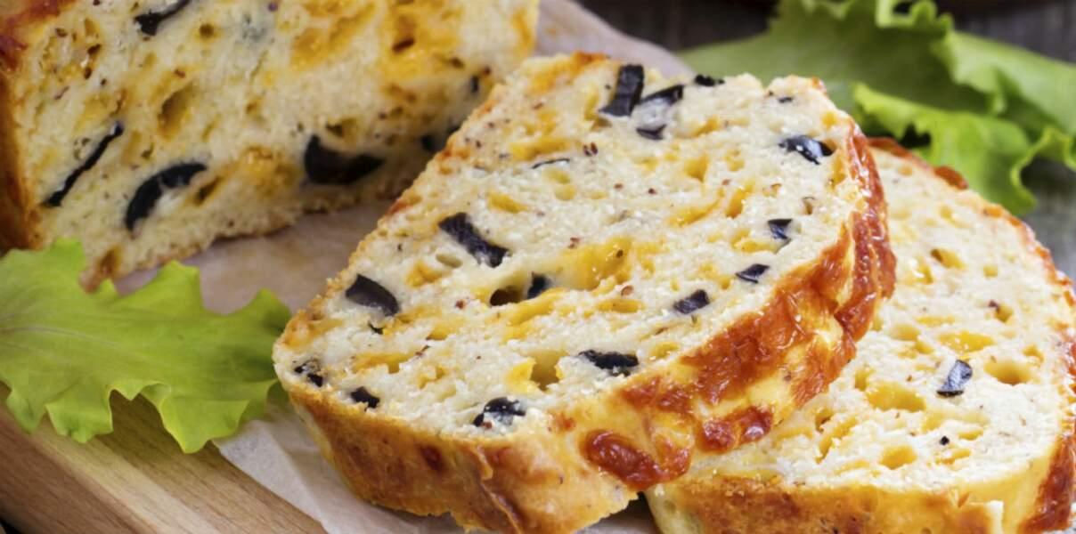 Cake aux olives et au fromage