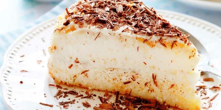Cheese cake aux zestes d'orange et copeaux de chocolat