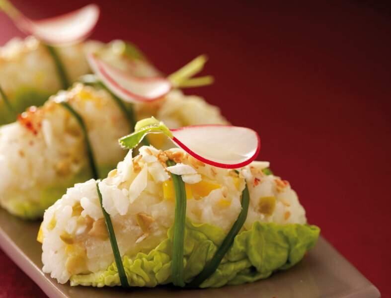 Sushis printaniers en salade au Mâconnais AOP