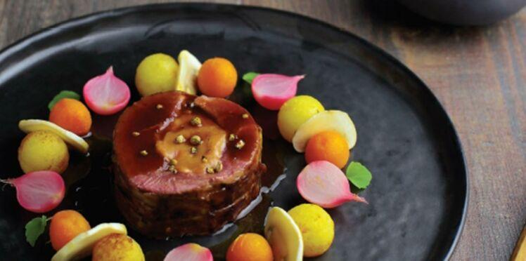 Magret de canard farci au foie gras de Philippe Etchebest