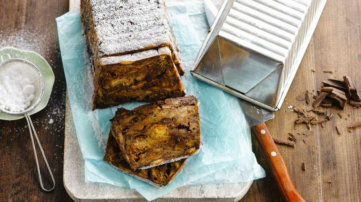 Pudding au chocolat noir au pain d'épices