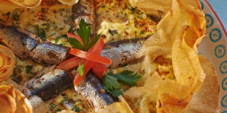 Croustillant de brick à la sardine