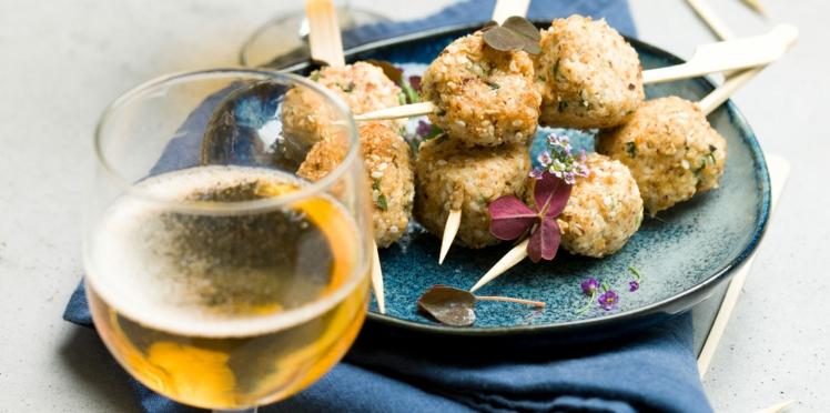 Bonbons de poulet mariné au cidre demi-sec