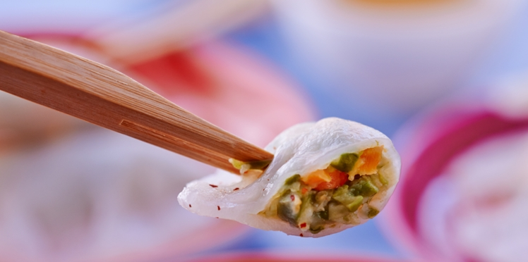 Raviolis aux légumes et sésame