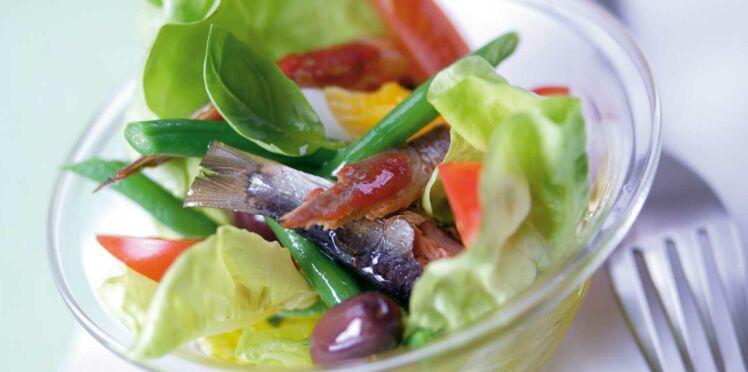 Salade de sardines à la niçoise