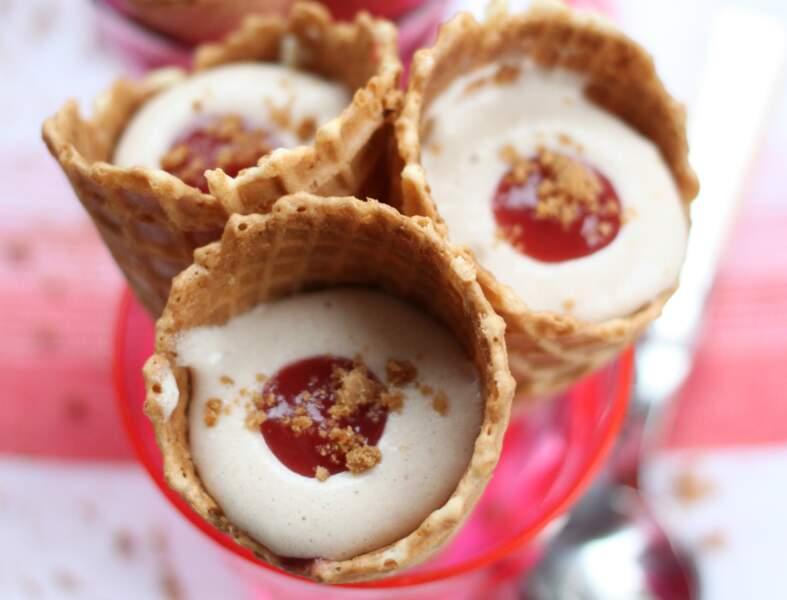 Cornets de tiramisu fraises et Spéculoos