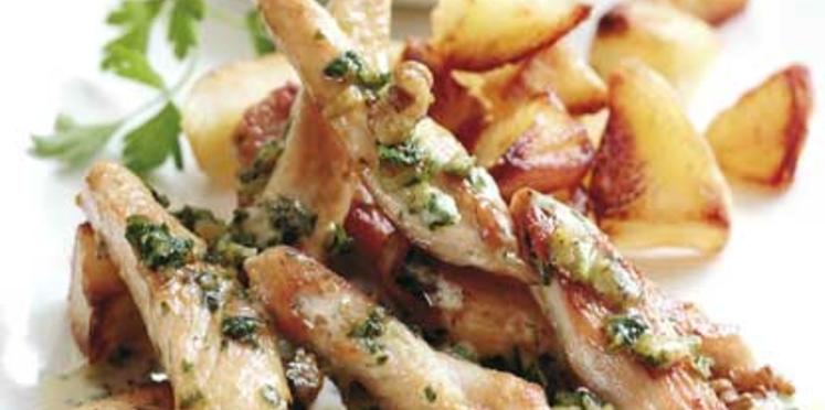 Aiguillettes de poulet au pesto