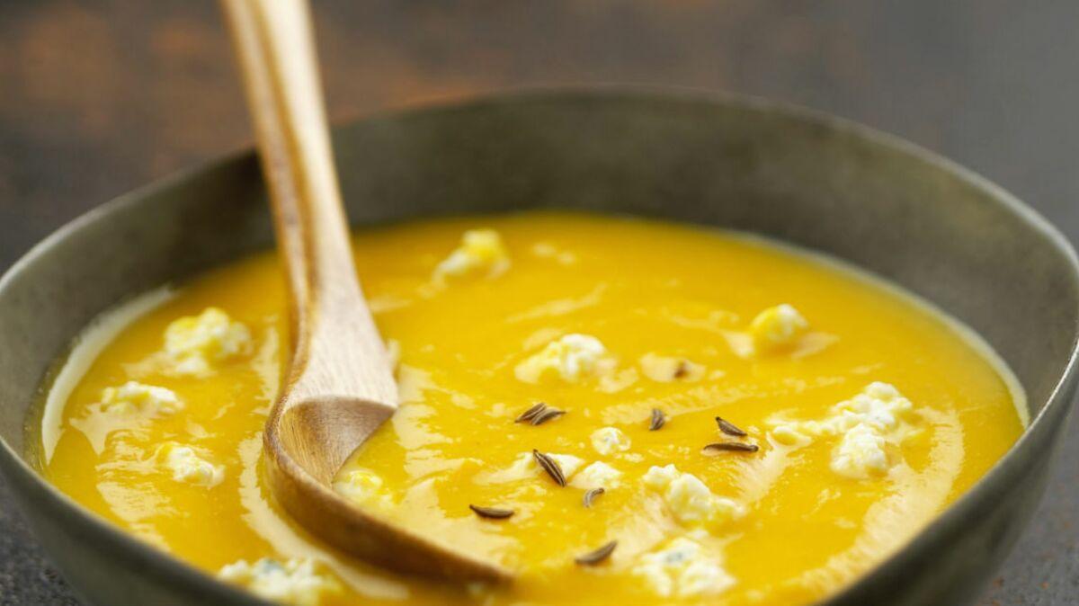 Soupe potiron curry chèvre