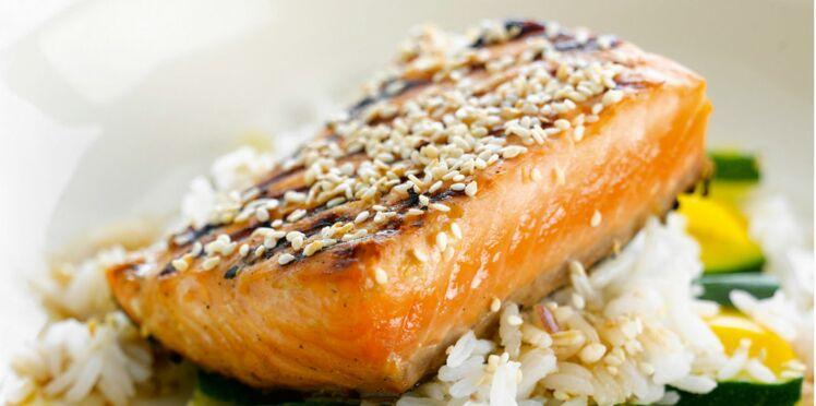 Pavé de saumon grillé et légumes vapeur
