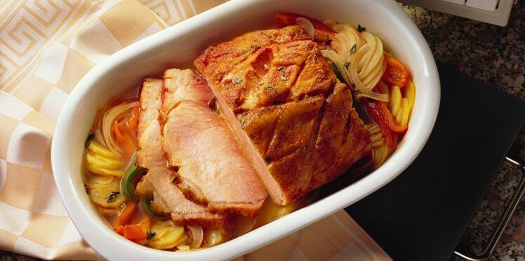 Rôti de porc à la gardiane