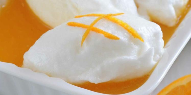 Œufs à la neige à l'orange