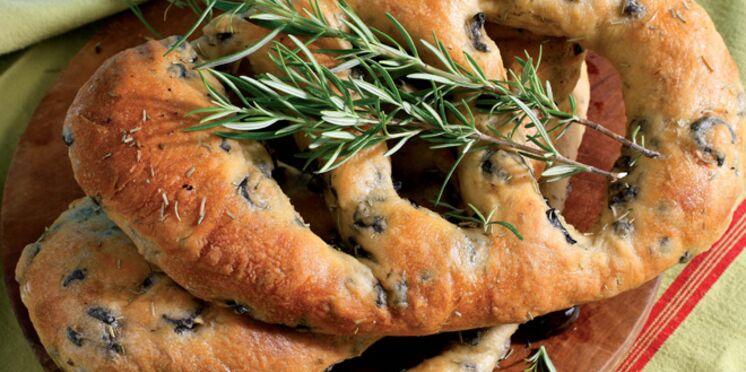 Fougasse aux olives et romarin