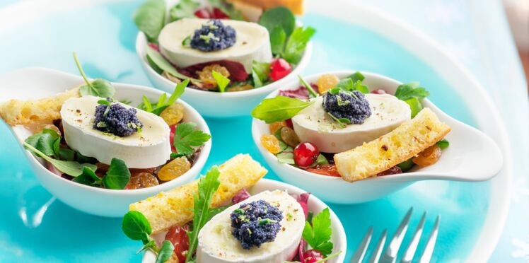 Salade aux oeufs de poisson, yuzu et au fromage En Cas de Caprice