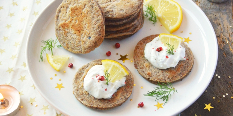Blinis de sarrasin et cheese cream