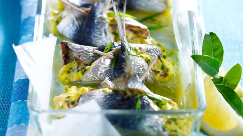Roulés de sardines au chèvre frais