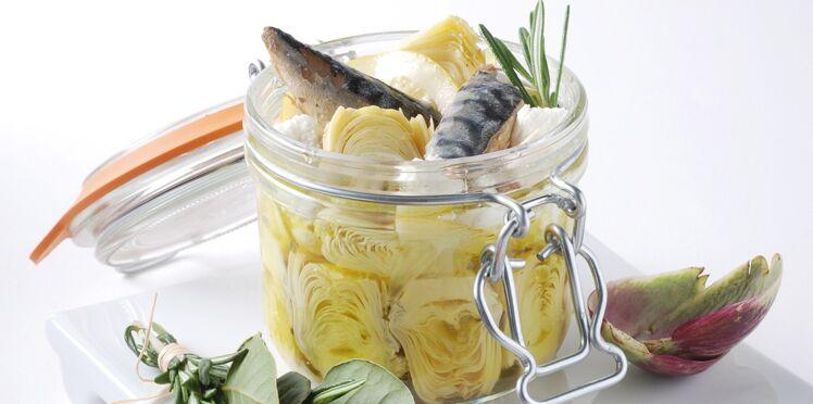 Petits artichauts marinés aux parfums marins