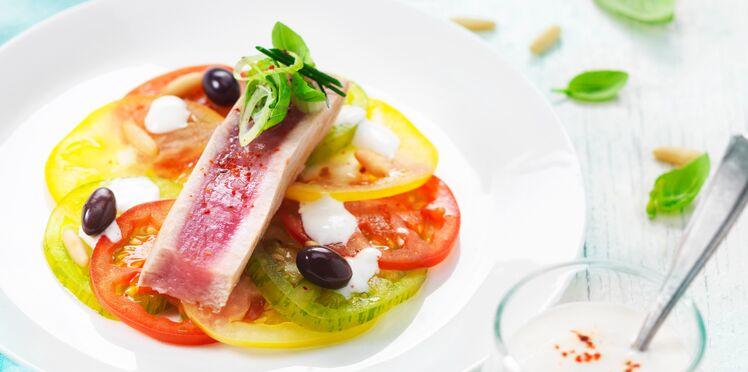 Duo de thon et tomates, sauce crémeuse au St Môret®