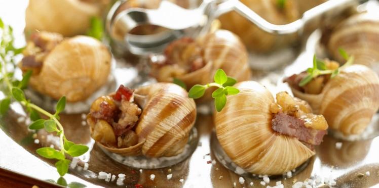 Escargots aux lardons et à l'estragon